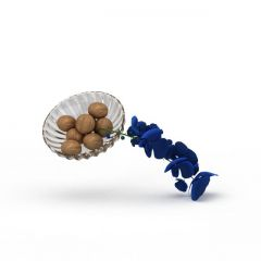 坚果摆盘模型3d模型