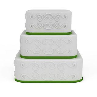 三层蛋糕3d模型