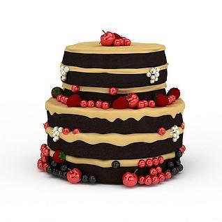 多层豪华生日蛋糕3d模型