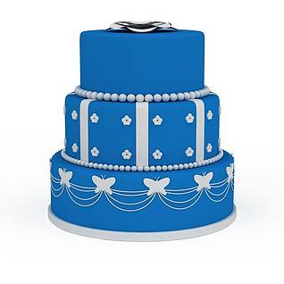 多层豪华裱花蛋糕3d模型