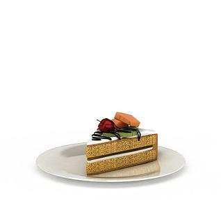 小蛋糕西点3d模型