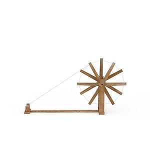 传统手工纺线车模型