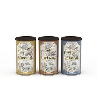 谷物麦片罐头3d模型