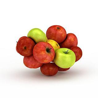 红苹果青苹果3d模型
