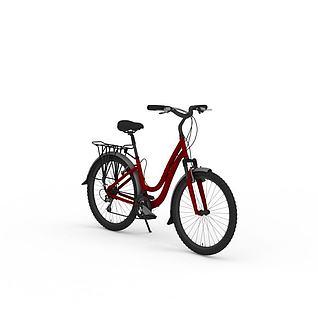 女式自行车3d模型