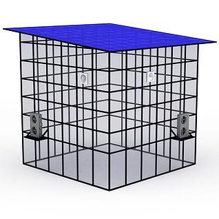 儿童拓展设备水冷空调屋3d模型