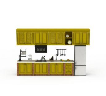 高端黄色橱柜套装