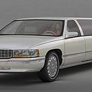 白色加长型轿车模型