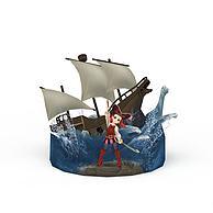 动漫卡通角色女孩3D模型3d模型
