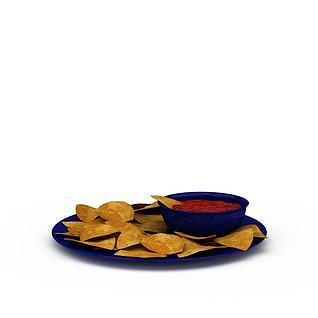 薯片3d模型
