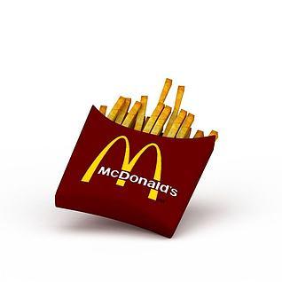 麦当劳薯条3d模型