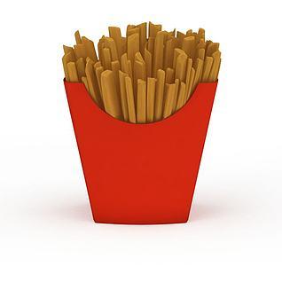 薯条3d模型