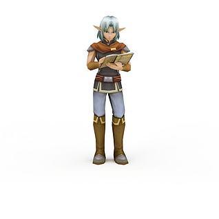 日系动漫人物3d模型