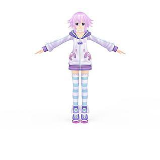 动漫女孩3d模型