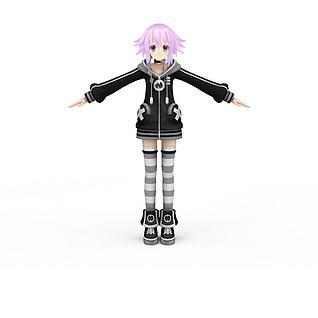 日系动漫女孩3d模型