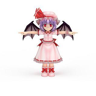 日系小女生动漫人物3d模型