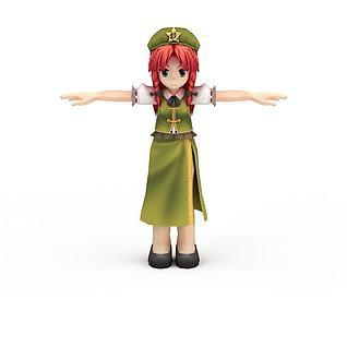 日系动漫小女孩3d模型