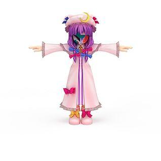 日系漫画女生3d模型