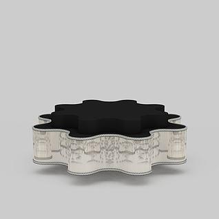 精美现代风印花吸顶灯3d模型