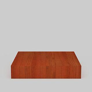 现代实木吸顶灯3d模型