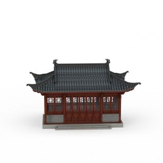 古建房屋3d模型