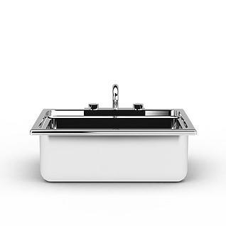 不锈钢洗菜池水槽3d模型