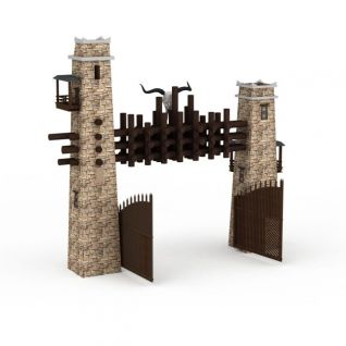 景区大门3d模型