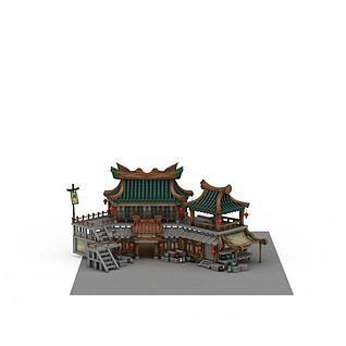 客栈驿站3d模型