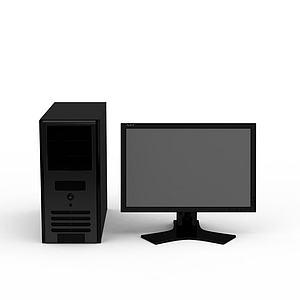 3d<font class='myIsRed'>电脑</font>主机显示器模型
