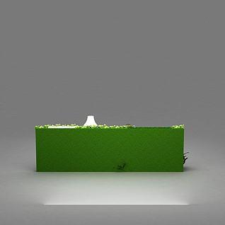 商场装饰美陈花墙3d模型