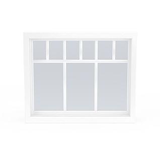 白色窗户3d模型