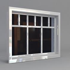 白色窗户3D模型3d模型