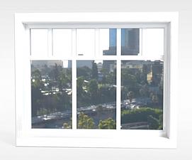 白色窗户模型