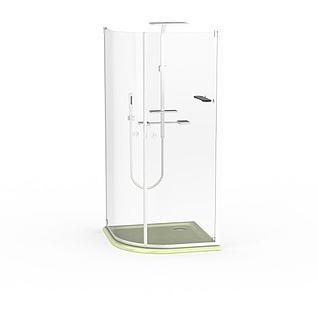 钢化玻璃沐浴间3d模型