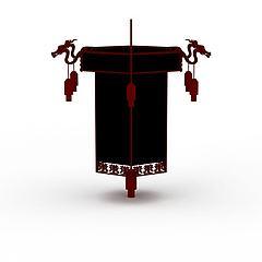 中式大红灯笼吊灯模型3d模型