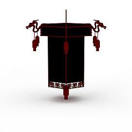中式大红<font class='myIsRed'>灯笼</font>吊灯3d模型