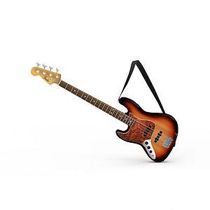 3d乐器吉他模型