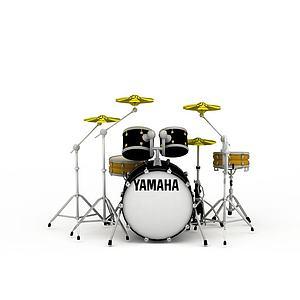 3d音乐设备乐器架子鼓模型