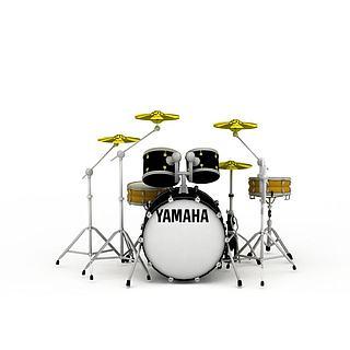 音乐设备乐器架子鼓3d模型