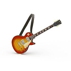 吉他模型3d模型