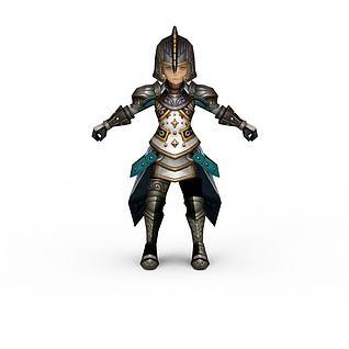 龙之谷牧师游戏人物3d模型