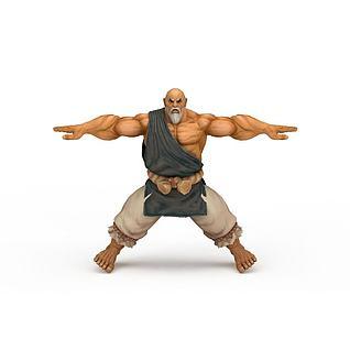 游戏人物拳皇《街霸4》3d模型