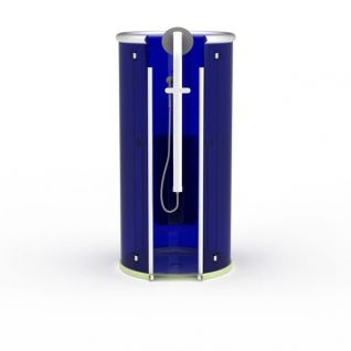现代蓝色圆形沐浴间3d模型