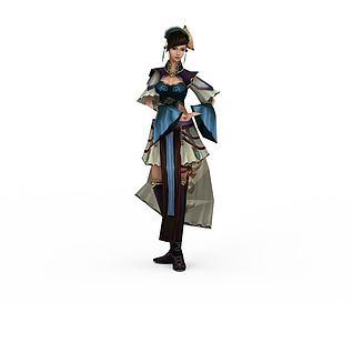 佛本是道游戏人物美女3d模型