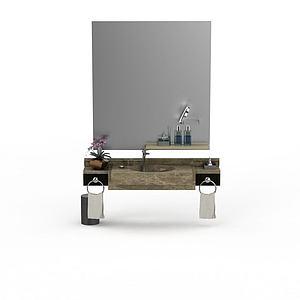 豪华大理石洗手台模型