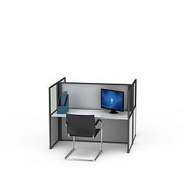 简约组装<font class='myIsRed'>办公桌</font>电脑桌3d模型