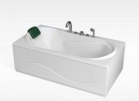 现代人造石浴缸模型