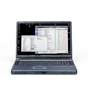 3d手提<font class='myIsRed'>电脑</font>笔记本模型