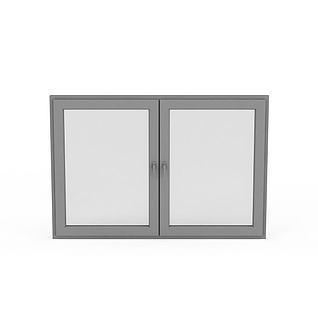 简约推拉窗户3d模型