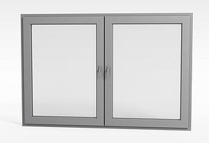 簡約推拉窗戶模型3d模型